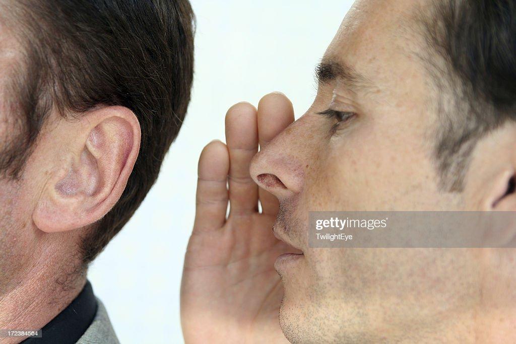 秘密を聴く : ストックフォト