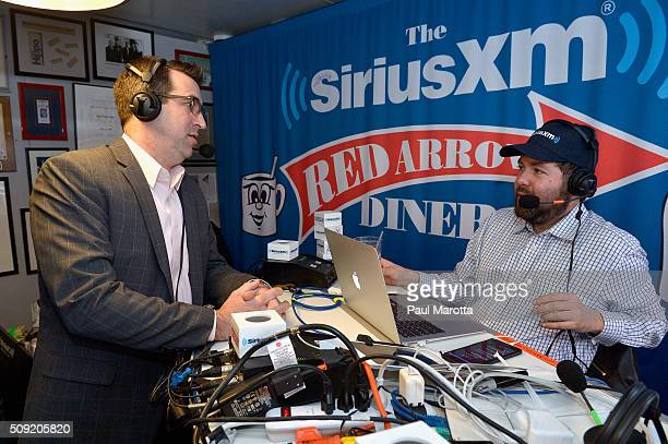 Listener Chris Garner is interviewed by Host Ari RabinHavt at SiriusXM Red Diner Broadcasts from New Hampshire Primary Coverage Live on February 9...