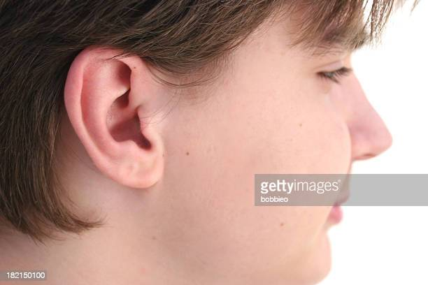listening skills - earlobe stock photos and pictures