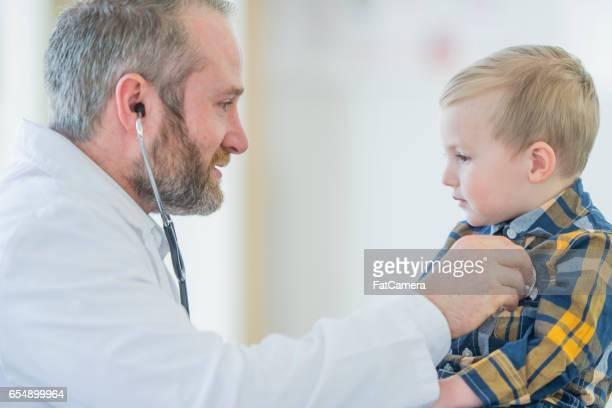 Listening to a Little Boy's Heartbeat