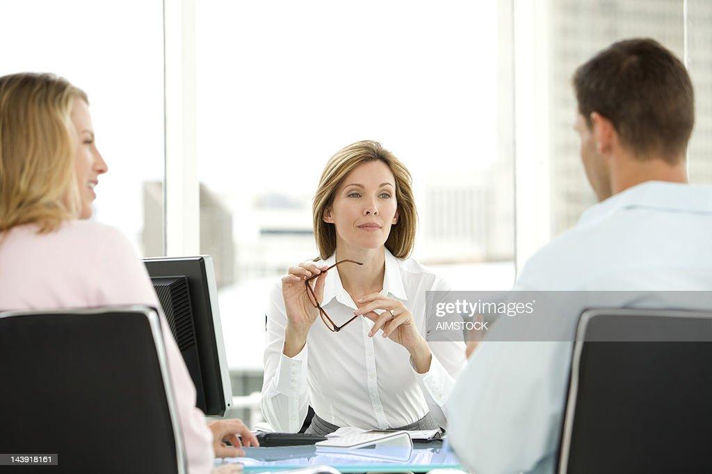 Listening to Customers : Stock Photo