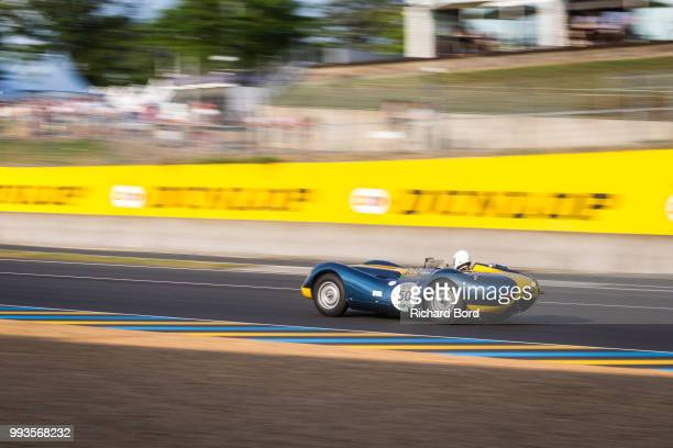 Lister Jaguar Knobbly 1959 competes during the Grid 3 race 1 at Le Mans Classic 2018 on July 7 2018 in Le Mans France
