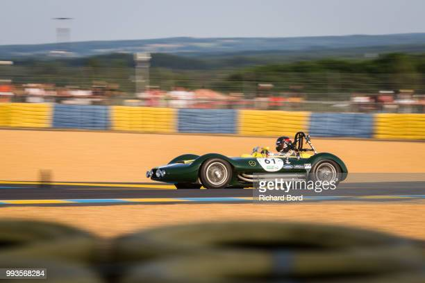 Lister Maserati 1956 competes during the Grid 3 race 1 at Le Mans Classic 2018 on July 7 2018 in Le Mans France