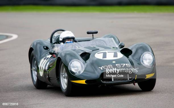 ListerJaguar 'Knobbly' in the Scott Brown Trophy race during the 75th Member's Meeting at Goodwood on March 18 2017 in Chichester England