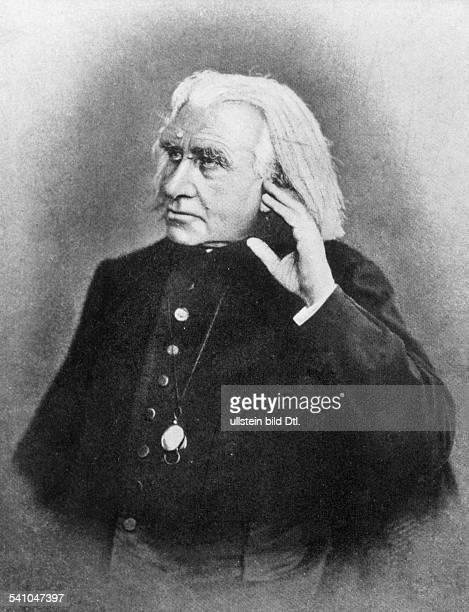 Liszt Franz *2210181131071886Komponist Pianist Dirigent Schriftsteller Ungarn Altersportrait undatiert