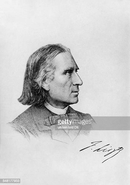 Liszt Franz Composer Pianist Hungary *2210181131071886 Profile of Franz Lithography about 1880 Vintage property of ullstein bild