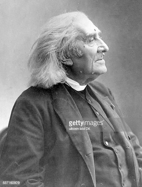 Liszt Franz Komponist Pianist Dirigent Schriftsteller Ungarn Altersportrait 1886 Aufnahme Nadar