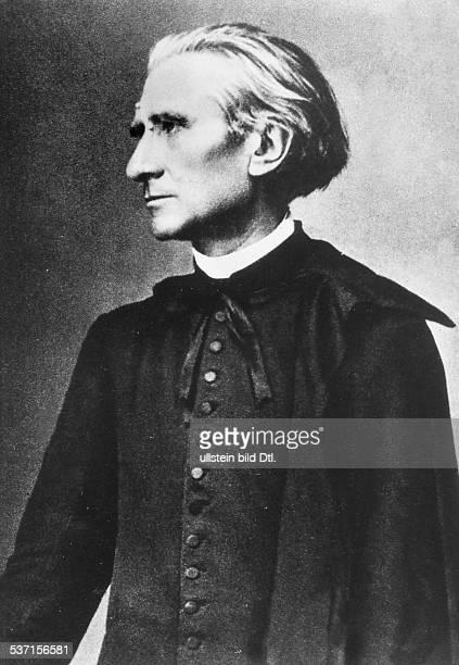 Liszt Franz Komponist Pianist Dirigent Schriftsteller Ungarn Halbportrait als Abbe undatiert