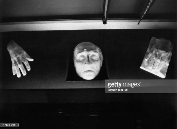 Liszt's Home in Weimar museum in the former home of composer and pianist Franz Liszt death mask and plaster casts of his hands