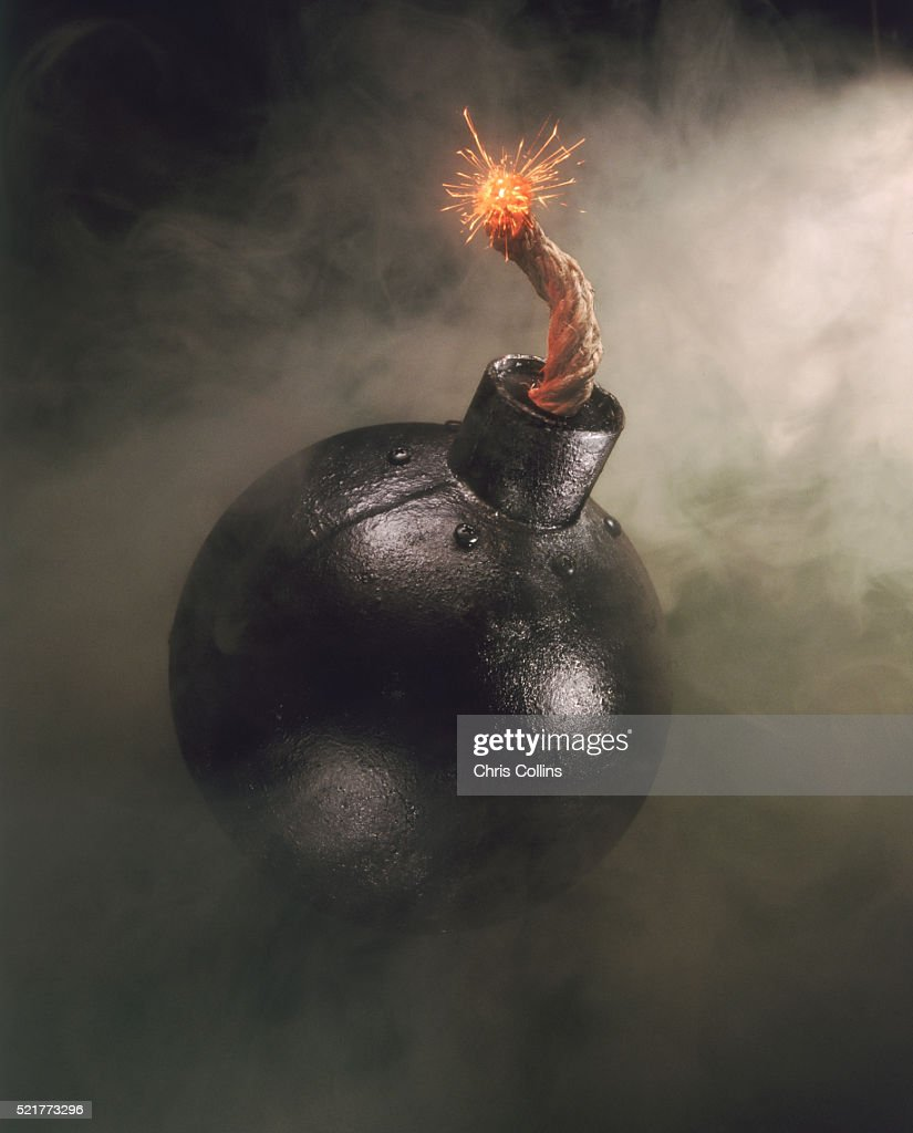Lit cannonball : Stock Photo