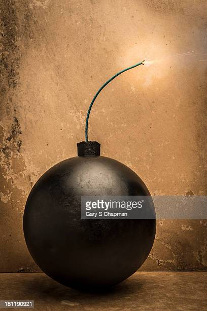 Lit fuse on bomb