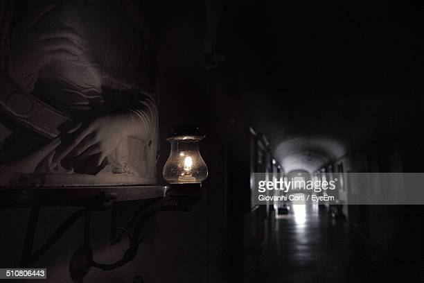 lit lamp in corridor - {{relatedsearchurl('london eye')}} stock photos and pictures