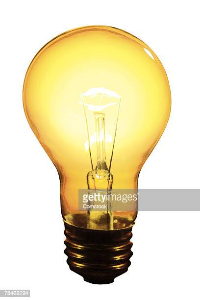 Lit light bulb