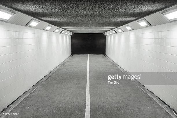 Lit pedestrian underpass