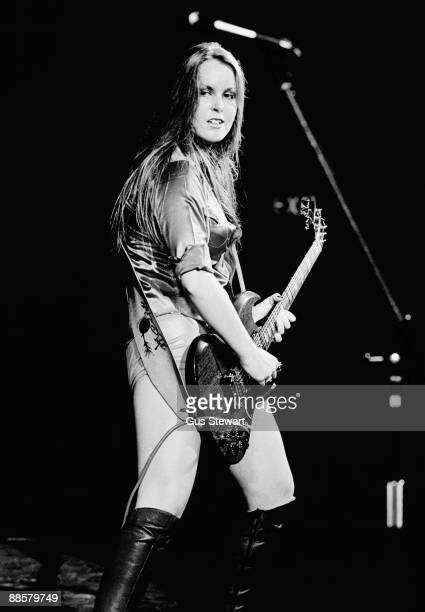 Lita Ford of The Runaways performs on stage at the Roundhouse in Camden on October 1st 1976 in London