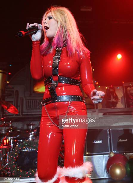 Lita Ford performs during A Twisted Christmas at the Nokia Theater on December 6 2008 in New York City