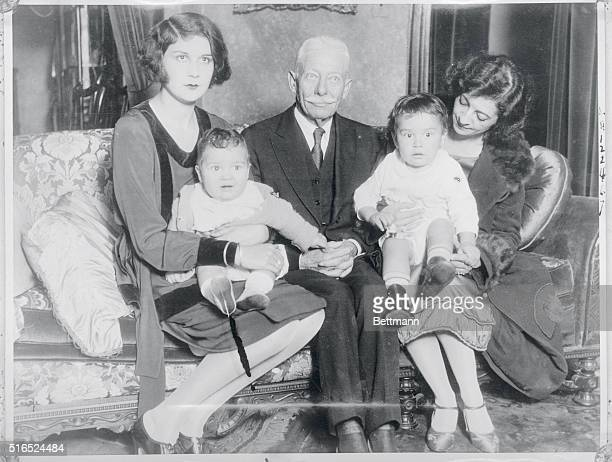 Lita Grey Leaves Charlie Chaplin's Home Photo shows Lita Grey with children her mother and grandfather at latters home Great is the wagging of...