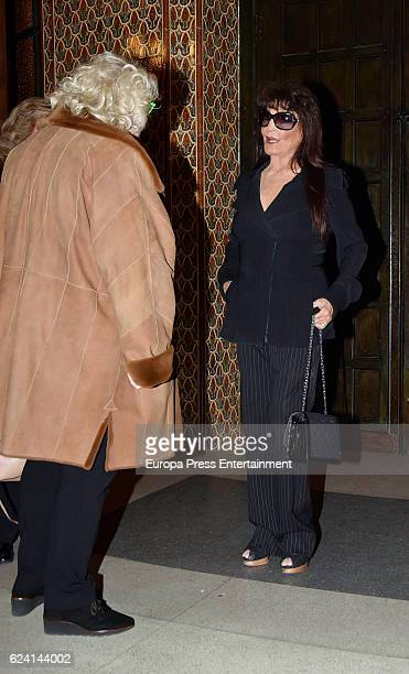 Lita Trujillo attends the funeral for at Joaquin Costa church on November 17 2016 in Madrid Spain