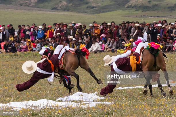 Litang Horse Festival in China: Riders Vie for Scarves