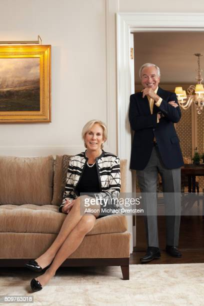 Literary agent Amanda 'Binky' Urban and writer/husband Ken Auletta are photographed for The Hollywood Reporter on March 24 2016 in New York City...