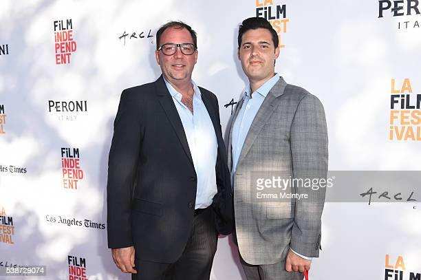 Literary Agent Jason Dravis and Producer Adam Tenenbaum attends the premiere of 'So B It' at the Los Angeles Film Festival at Arclight Cinemas Culver...