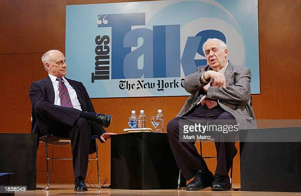 Literary critic and author Harold Bloom talks to an audience at the CUNY campus March 9 2003 in New York City