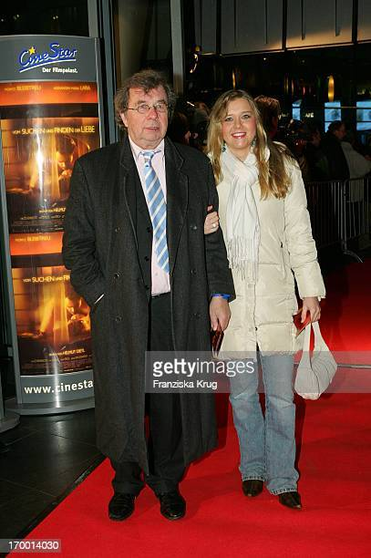 Literary critic Dr Hellmuth Karasek and daughter Laura at The Premiere From Search And Find The Love in Cinestar at Potsdamer Platz in Berlin 240105