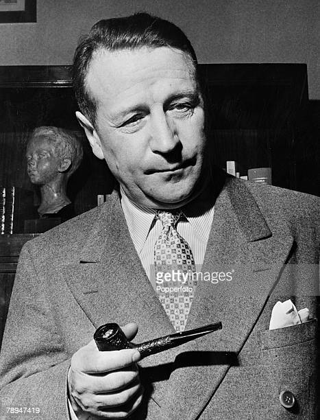 Literature, 11th February 1956, Portrait of French author and writer George Simenon