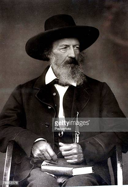 Literature, Alfred, Lord Tennyson, English poet,who became the Poet Laureate, Pic circa 1870