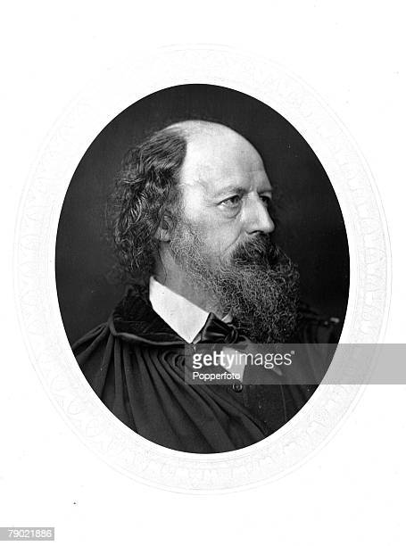 """Literature, Alfred, Lord Tennyson, portrait, , Poet Laureate, An English poet, he was immensely popular in his lifetime among many works """"In..."""