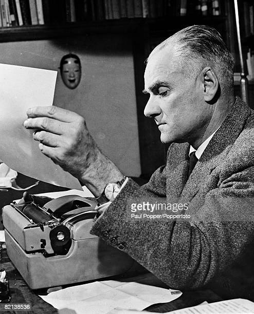 circa 1950's Alberto Moravia Italian journalist author and short story writer
