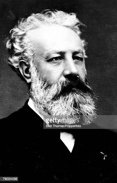 Literature Circa 1890 A portrait of Jules Verne the French writer