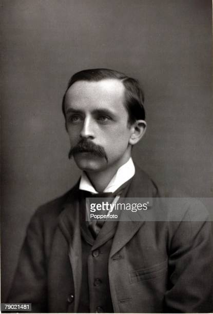Literature Circa 1900 A portrait of JM Barrie the Scottish novelist and playwright best known for writing Peter Pan