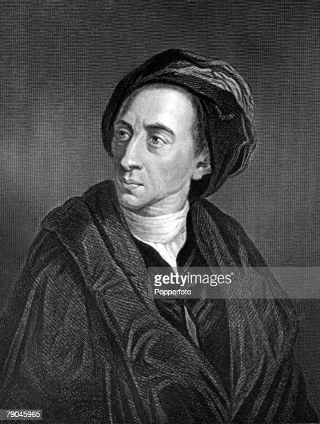 Literature Illustration circa 1730's Alexander Pope English poet and satirist