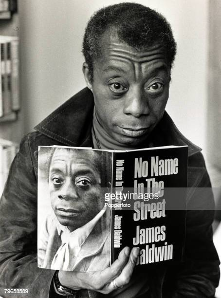 13th April 1972 African/American author James Baldwin at the London launch of his new book 'No Name on the Street' James Baldwin born in Harlem often...