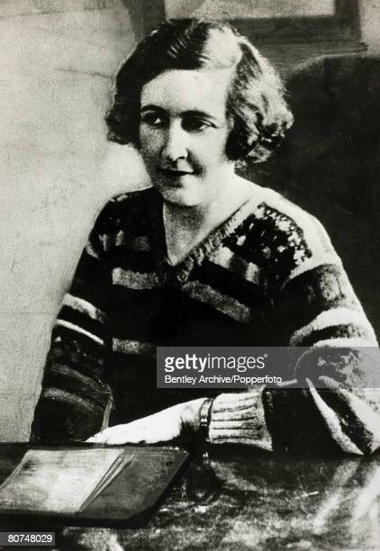 1926 English crime writer Agatha Christie as a young woman Agatha Christie the world's best known mystery writer famous for her Hercule Poirot and...