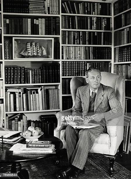 """Literature Personalities, pic: 1947, H,E,Bates, prolific English writer who wrote """"The Darling Buds Of May"""" and """"Love For Lydia"""", two of his many..."""