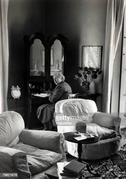 1950 English crime writer Agatha Christie at her home Winterbrook House Wallingford Berkshire Agatha Christie the world's best known mystery writer...