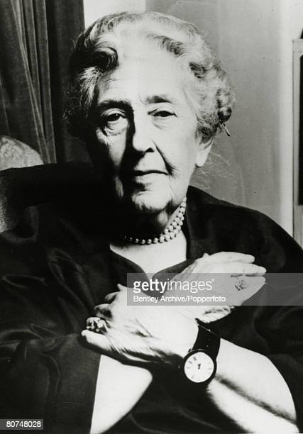 circa 1960 English crime writer Agatha Christie portrait Agatha Christie the world's best known mystery writer famous for her Hercule Poirot and Miss...