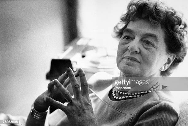 circa 1968 PLTravers 18991996 PL Travers as she preferred to be known was the author of the 5 Mary Poppins books