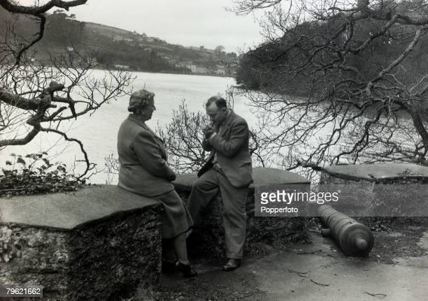 January 1946 English crime writer Agatha Christie pictured with her husband Prof Max Mallowan near their home Greenway House DevonAgatha Christie the...