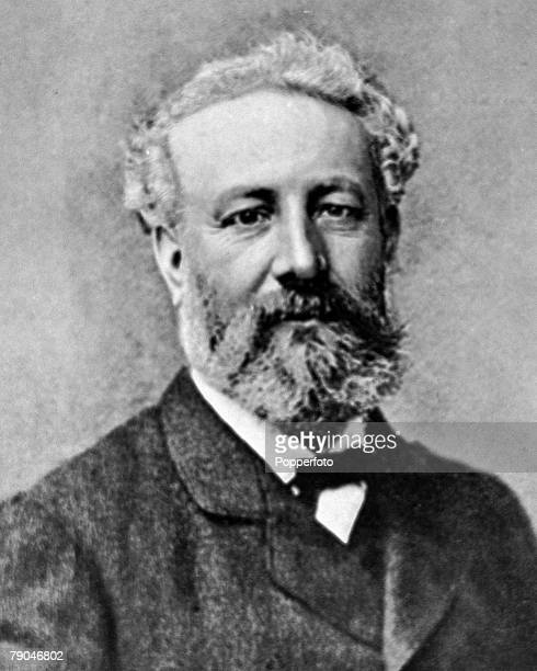 circa 1890 Jules Verne French author of tales of adventure that anticipated future scientific events