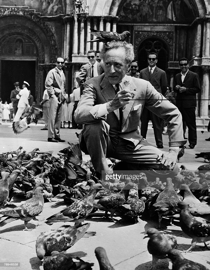 Literature, Venice Italy, 16th July 1956, French author and