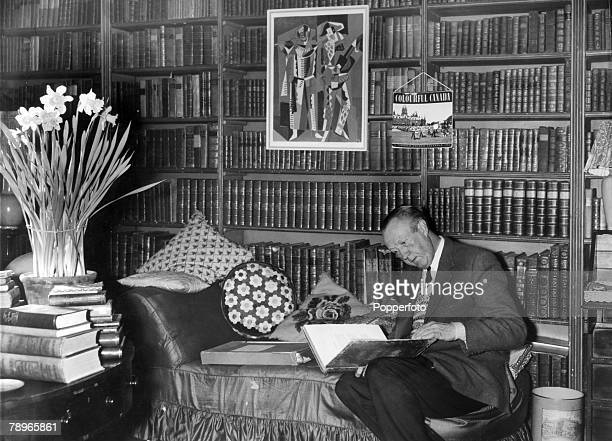 Litersture, Personalities,Weston Hall, near Towcester, Northamptonshire, England, pic: 1969, Author of some 80 books Sir Sacheverell Sitwell...
