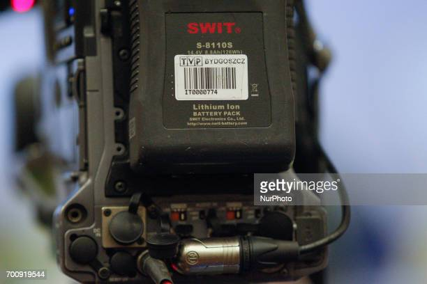 A lithium ion battery is seen on the back of a broadast television camera on 22 June 2017 Recently Lithium Ion type batteries used in many...