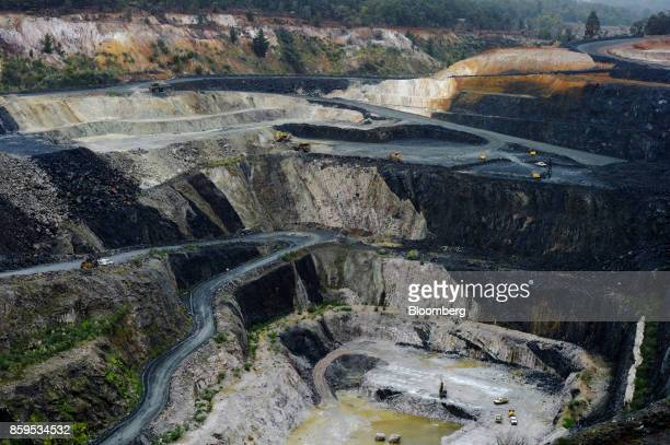 Lithium ore is mined in an open pit mine at a Talison Lithium Ltd site a joint venture between Tianqi Lithium Corp and Albemarle Corp in Greenbushes...