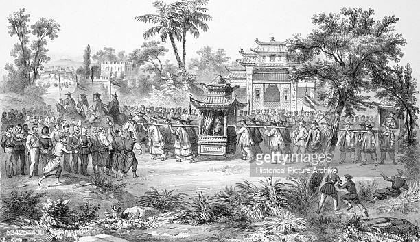 Lithograph Arrival of the Chinese Dignitaries to the Allies Camp at Tianjin