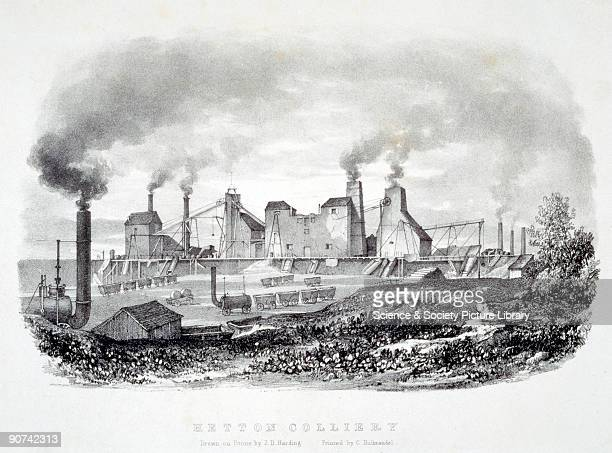Lithograph by J D Harding of the Hetton colliery which was started in 1819 and opened in 1822 The colliery was notable for being the home of the...