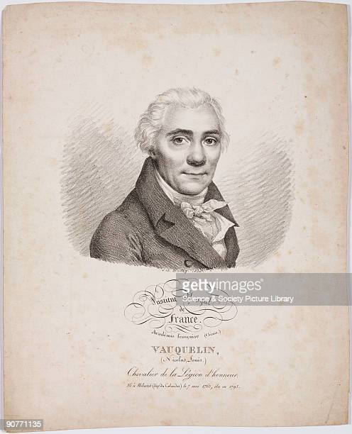 Lithograph by Julien Leopold Boilly of the French chemist Nicolas Louis Vauquelin . Vauquelin discovered Potassium dichromate in 1797 during the...