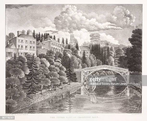 Lithograph drawn and lithographed by William Westwood The Iron Bridge at Coalbrookdale completed in 1779 was the first in the world to use cast iron...